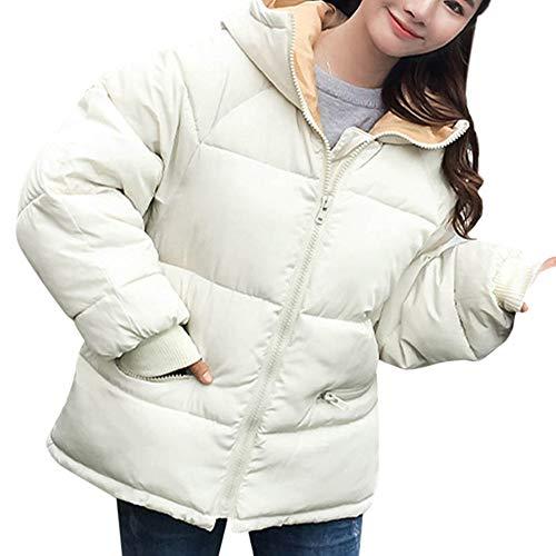 Bazhahei giacca donna,casuale sport donna inverno moda giacca tendenza cappotto design sottile capispalla,cappotto con cappuccio imbottito in cotone imbottito per donna