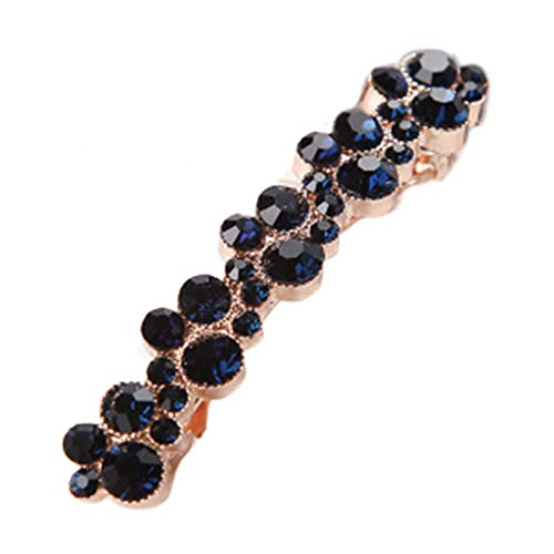 Exing Haarspangen Damen Strass Metall,7 cm Luxury Faux Pearl Glitter Rhinestone Embellishment Jewelry Spring Hairgrips Party Barrettes 5 Colors