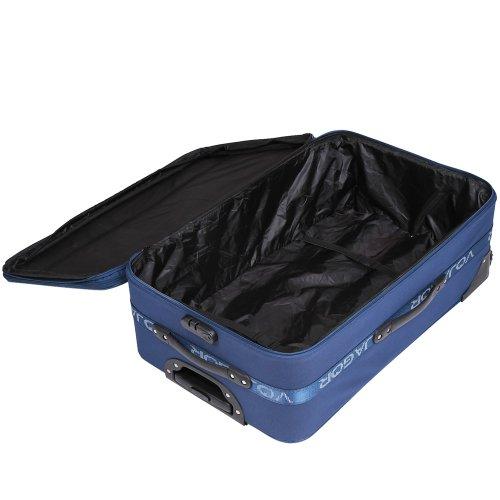 5 TLG. Trolleyset Kofferset Reisekoffer Handgepäck XXL, XL, L, M, S (Blau) - 6