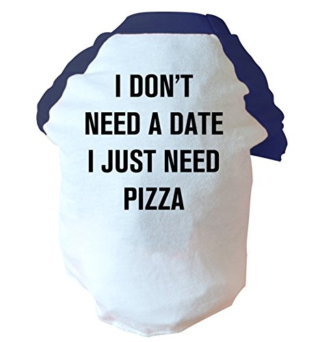 Flox Creative I Don 't Need Ein Datum I Just Need Pizza Zweifarbig Dog Weste Rosa Oder Blau Gr. Large, Blau