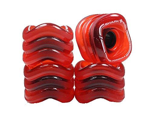 SharkWheel SHARK WHEELS Transparent Rot/Black 70mm/78a (70mm 78a Räder)