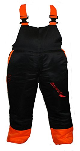 The Rockwood Chainsaw Bib & Brace Type A Class 1 are some of the best chainsaw protective trousers. They have 9 layers of protective material makes these trousers strong enough to withstand a chainsaw cutting at 20m/s. Elasticated waistband along with the fixed pockets are very practical features too. Whether you have a small or large waistline, these chainsaw will fit you well guard you safely against cuts. These are a good alternative for fully-enclosed chainsaw trousers.