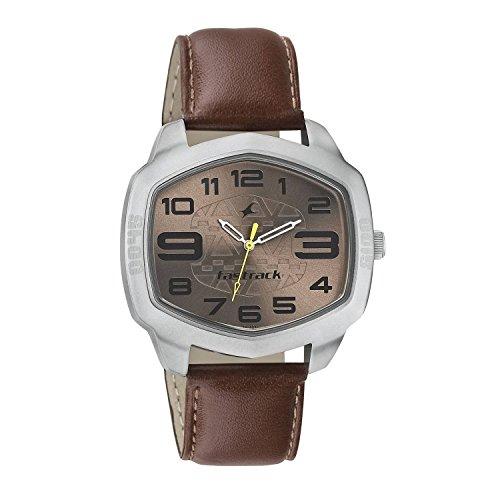 419djNZgHbL - 3119SL04 Fastrack Brown Mens watch