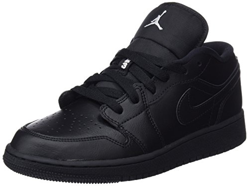 Nike Unisex-Kinder Air Jordan 1 Low (GS) Gymnastikschuhe, Schwarz (Black/White/Black 006), 37.5 EU (Jungen Jordan Schuhe In Air)