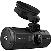 """Vantrue N2 Double caméra Full HD 1080P Caméra de voiture avant et arrière 1.5 """"310 ° à grand angle dans enregistreur vidéo de caméra de voiture avec vision nocturne HDR, mode parking, capteur G, enregistrement en boucle, détection de mouvement, enregistrement audio"""