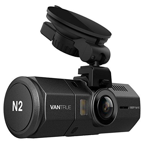 Vantrue N2 Dual Auto Kamera Dashcam – 1080P FHD + HDR 1.5″ LCD in Auto Armaturenbrett Kamera Vorder-und-Rückseite Weitwinkel DVR mit G-Sensor, Parkplatz-Modus und Super Nachtsicht