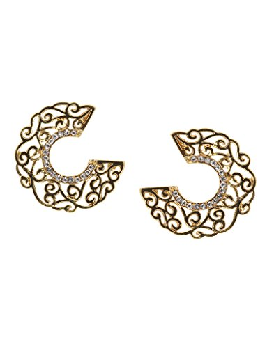Bindhani Traditional Fancy Chandbali Cresent Moon Earrings For Girls (Chand Bali)  available at amazon for Rs.222