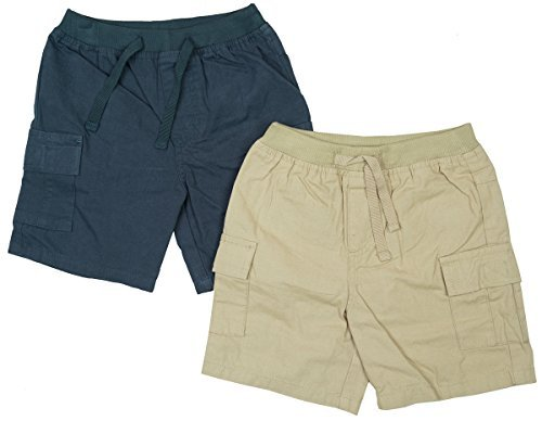 Boys Baby Toddler PACK OF 2 Chino Style Combat Pocket Shorts sizes from 3 to 24 Months
