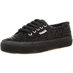 Superga 2750-Leopardhorsew, Scarpe Low-Top Donna, Nero (Full Black), 38 EU