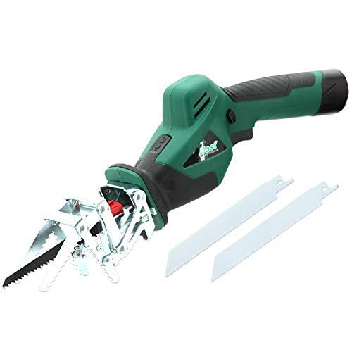 Elektrische Wechselsäge, 10,8 V 2500 U/Min Einstellbare Geschwindigkeit Mit 3 Klingen Für Holz-Und Metallschneiden