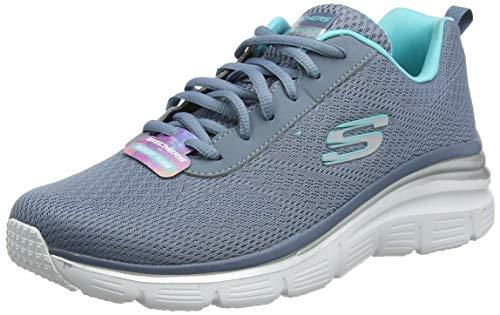 Skechers Fashion Fit-Bold Boundaries, Scarpe da Ginnastica Donna, Grigio (Slate Grey Slt), 36 EU