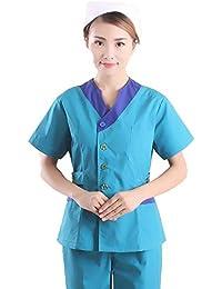 OPPP Ropa médica Servicio de enfermería para Mujeres Cepillo de Mano para restregar Overoles orales de