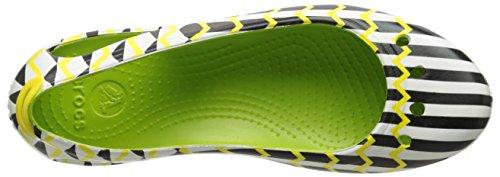 Crocs , Damen Ballerinas Grün (Volt Green)