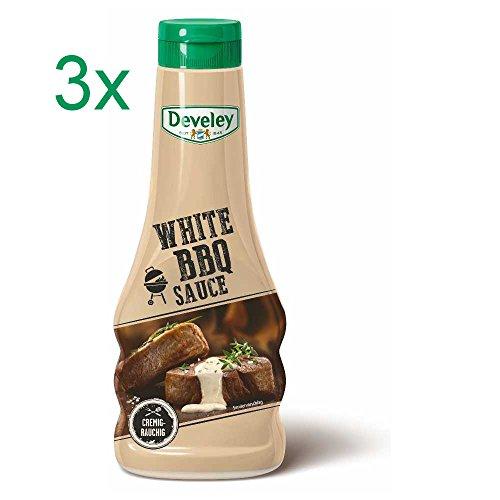 Develey white BBQ Sauce rauchig im Geschmack 3er Set (3x250ml Flasche)