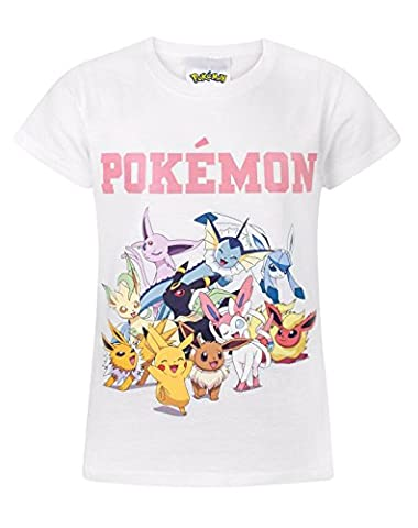 Pokemon Pikachu & Eevee Evolutions Girl's T-Shirt (9-10 Years)
