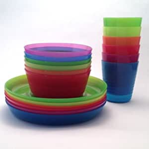 IKEA - KALAS Children Color Bowl, Tumbler and Plate Sets X6 Each