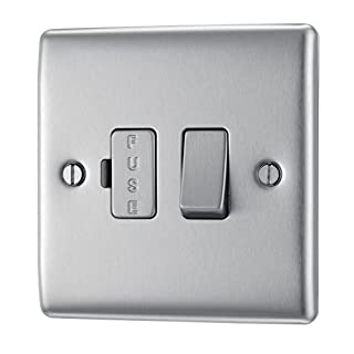 BG Electrical NBS50 Metal Brushed Steel Switched Fused Connection Unit
