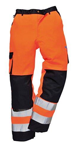 Portwest TX51 Pantaloni Lyon Alta Visibilità, Arancione/Navy, S