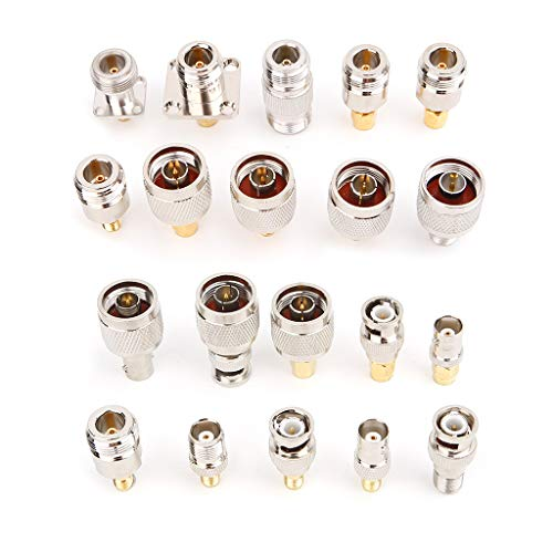 LANDUM 20pcs N Type BNC TNC SMA RF Connector Adapter Kit Test Converter Koaxial-adapter-kit
