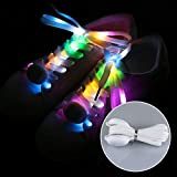 Schnürsenkel mit LED-Licht, 1 Paar bunte blinkende Schuhbänder für...