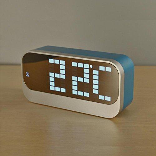 DXNSPF LED Mini Sveglia Digitale Orologio Creativo Intelligente Luminoso , blue