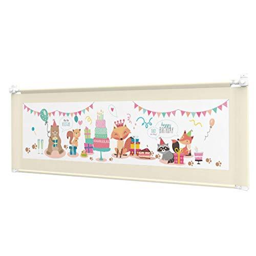 Bettgitter Bettschutzgitter Extra langes Kleinkind Queen-Size-Bett Twin XL Verstellbare nach unten schwenkbare Leitplanke für Mädchen (Farbe : Beige, größe : Length 200cm) - Weiße Holz-twin-size-bett