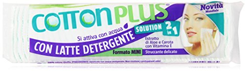 Cotton Plus - Struccante Con Latte Detergente 2 In 1, Formato Mini - 80 Pezzi