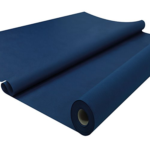Sensalux Tischdeckenrolle, OEKO-TEX 100, abwaschbar, 25m lang (Farbe + Größe wählbar), dunkelblau, 1,2m x 25m,...