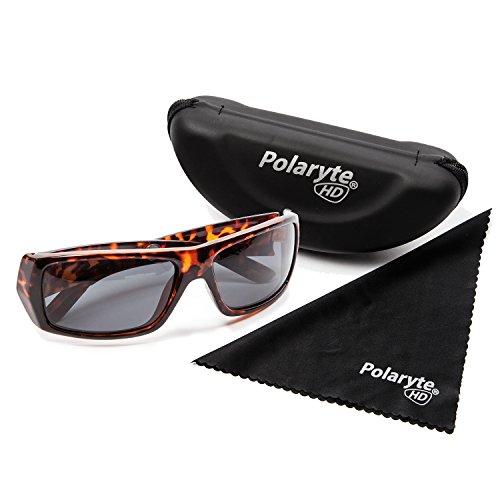 Polaryte HD–Gafas de sol polarizadas, visión de alta definición, UVA UVB UV400, marrón