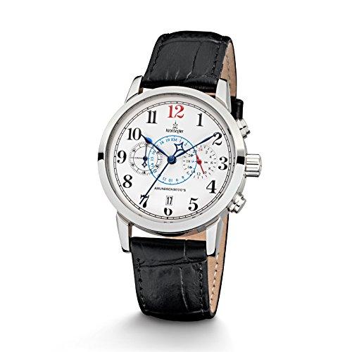 kronsegler-amundsen-9000s-ladies-chronograph-telemeter-steel-white-black