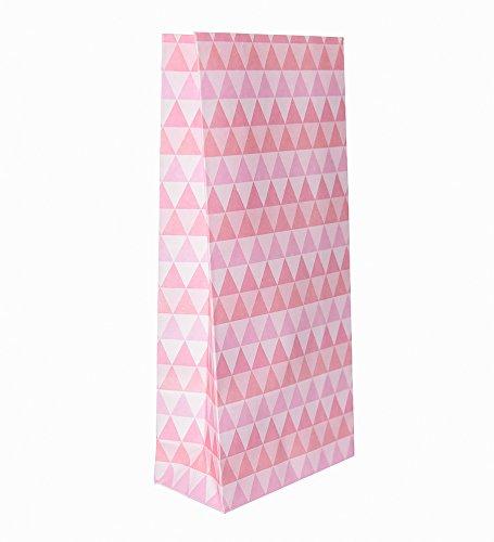 10 Pink Rosa Gastgeschenk-Papiertüten aus der Serie