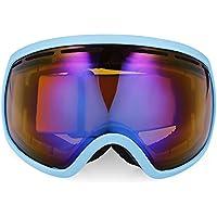 Shuzhen,Gafas antideslizamiento esféricas Unisex para Esquiar Gafas para Escalar Gafas(Color:Lago Azul + Negro)