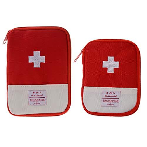 Sharplace 2 pz borsa primo soccorso contenitore medicinali trasporto sport campeggio accessori