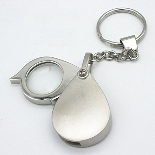 Tasca lente di ingrandimento, ingrandimento 8x 40x pieghevole portatile con portachiavi Jewelers lente di ingrandimento Taglia libera As Picture Show