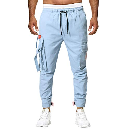 Aiserkly Herren Cargo Hose Lang Trousers Pant Freizeithose Straight Tapered Hose Arbeitshose Slim Fit