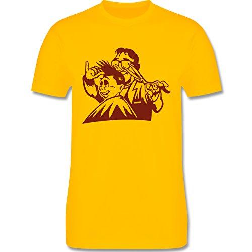 Handwerk - Friseur - Herren Premium T-Shirt Gelb