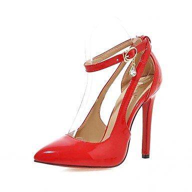Damen-High Heels-Hochzeit / Büro / Kleid / Lässig / Party & Festivität-Kunstleder / Kunststoff / Lackleder-Stöckelabsatz-Absätze / Red