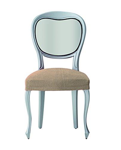 Überzug für Esszimmer-Stuhl Teide, Polyester, Acryl, Elastomerkunststoff, elastisch, 6er-Pack, Beige