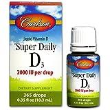 Carlson - Super Daily D3 2000 IU - 0.3236 ml