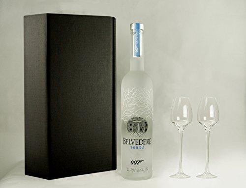 Preisvergleich Produktbild Geschenkidee Belvedere 007 SPECTRE Limited Edition + 2 handgefertigte Gläser