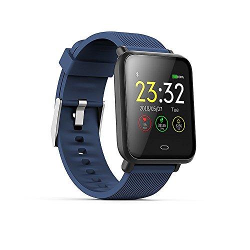 Wysgvazgv Smart-Armband, Fitness-Aktivitätstracker, wasserdicht, IP67, Herzfrequenz, Schlafüberwachung, Schrittzähler, Blutdruck, SMS, SNS Anruf, Alarm Farbdisplay für iOS Android iPhone Frau Mann (Ios-8-blutdruck-monitor)