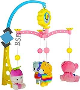 baby mobile mit musik und 4 teddyb ren night mobile kinderbett mobile musikal mobile. Black Bedroom Furniture Sets. Home Design Ideas