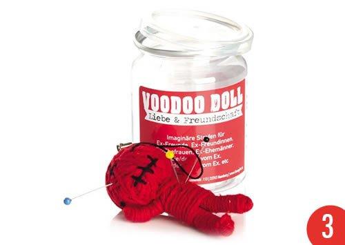 3er-Pack: Voodoo Doll in Dose +++ LUSTIG von modern times +++ LIEBE & FREUNDSCHAFT - VOODOO-DOLL +++ I LOVE GIFTS
