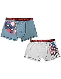 9bc31f18523b88 Marvel Avengers RH3664 Men s Teenage Boys Boxers Underwear Cotton Pack of 2  Grey Blue