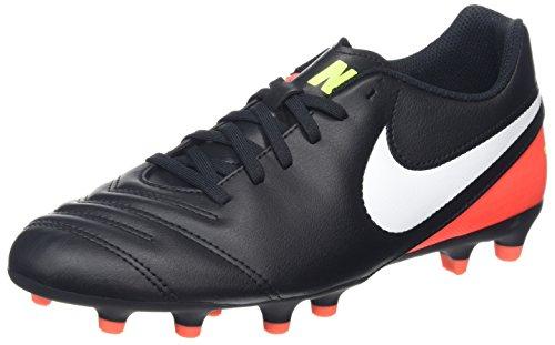 Nike Herren Tiempo Rio III FG Fußballschuhe, Schwarz (Black/White-Hyper Orange-Volt), 39 EU (Schwarz Schuhe Rio)
