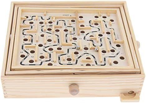 KESOTO Bois Labyrinthe à Billes Billes Billes Puzzle Casse-tête Balance Board Jeu   Moderne Et élégant à La Mode  124434