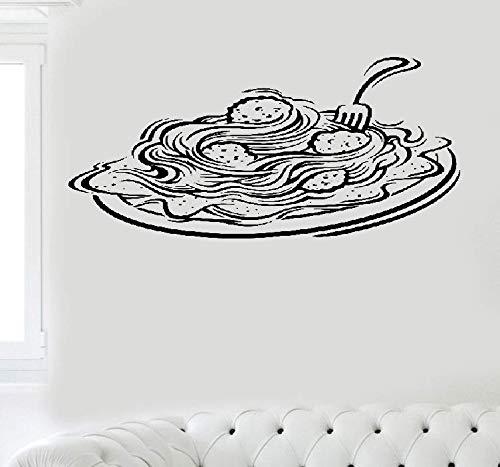 Wandtattoo Wohnzimmer Wandtattoo Schlafzimmer Italienische Pasta Fenster Aufkleber für Restaurant Foodshop Italien Aufkleber Lebensmittel Pizza Pasta Küche Aufkleber - Italienische Charme Disney Von