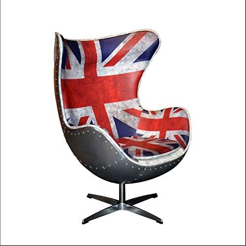 GTMLG Loft Leather Egg Stuhl Designer FRP Persönlichkeits Kreative Reis Wort Fahne Aluminium Leder Computer Büro Stuhl -