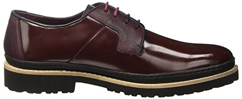 Ted Baker Oktibr, Chaussures à Lacets Homme rouge (DARK RED LEATHER)