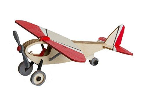 Sportflugzeug - Dekorationsartikel aus Holz zum selbst Zusammenbauen - Made in Germany (Holz-flugzeug-kits)